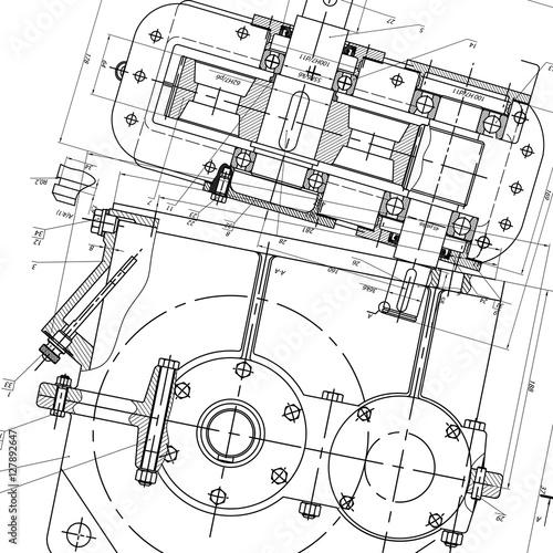 Fotografía  Mechanical Engineering drawing