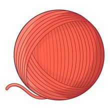 Yarn Ball Toy For Cat Icon. Cartoon Illustration Of Yarn Ball Toy For Cat Vector Icon For Web Design