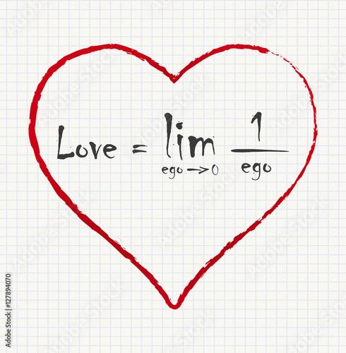 Love Equation Made With Math Symbols Funny Inscription Love