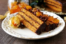 Traditional Polish Gingerbread Layer Cake With Plum Jam