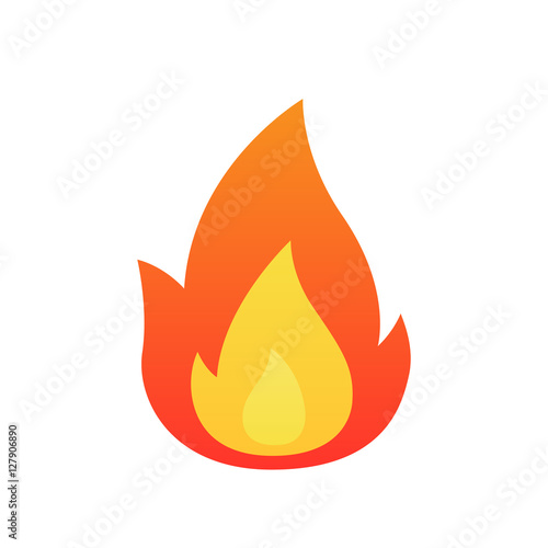 Fotografia, Obraz Fire flame vector isolated