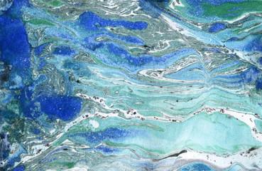 FototapetaMarble paper. Marble ink texture.