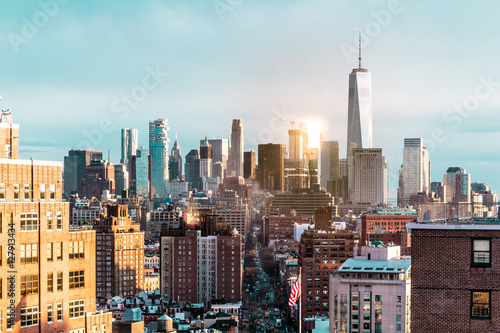 Foto op Aluminium New York Elevated view of Manhattan, New York City