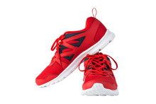 Red Sport Running Shoes Isolat...
