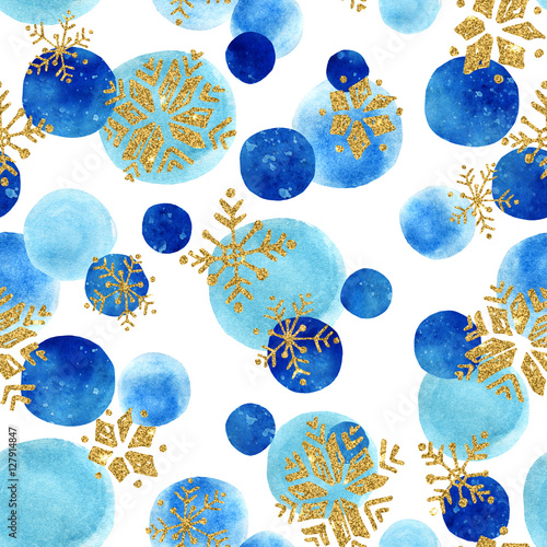 Cotton fabric Abstract winter seamless pattern