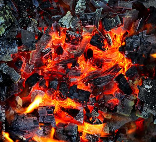 Fotografiet  Live coals