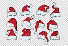 Set Christmas Hats Santa Claus