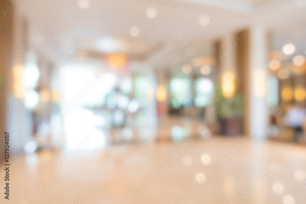 Fototapety, obrazy: Abstract blur interior hotel lobby background .