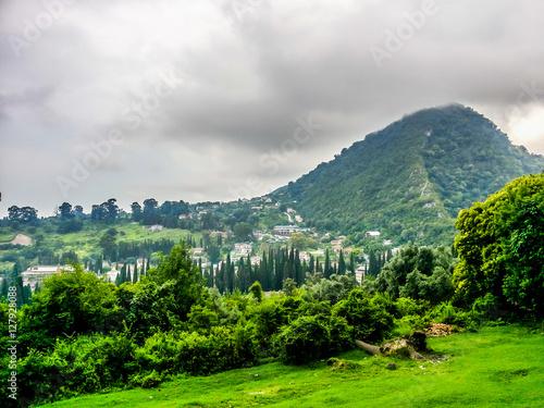 Fotografie, Obraz  Iversky mountain in New Athos, Abkhazia in gloomy day