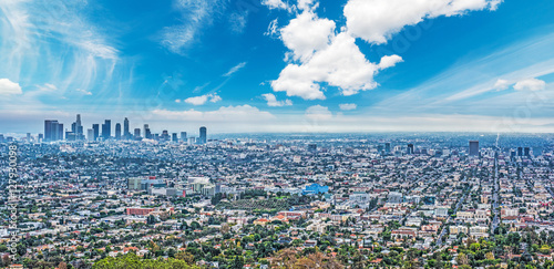 Deurstickers Los Angeles Los Angeles under a blue sky