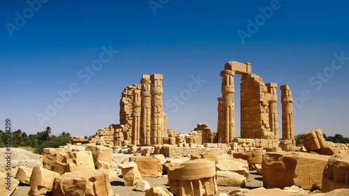 Canvas Prints Ruins Ruines of Amun temple in Soleb, Sudan