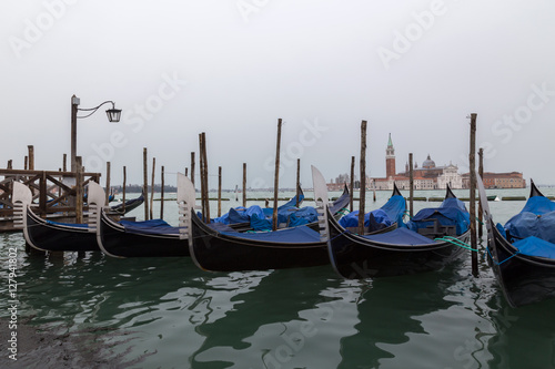 Spoed Foto op Canvas Gondolas Venice Italy spring Venezia city on water Europe