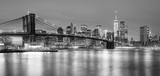 Fototapeta New York - Panoramia of  Brooklyn Bridge and  Manhattan, New York City