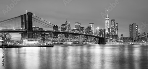 Photo sur Aluminium Brooklyn Bridge Panoramia of Brooklyn Bridge and Manhattan, New York City