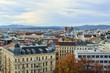 Aerial scenic panoramic view of Vienna seen from Haus des Meeres in Austria