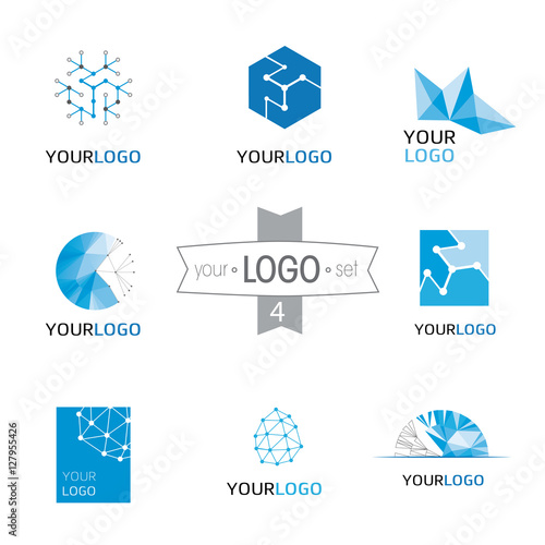 Modern Logo Design Set Logotypes For Different Companies