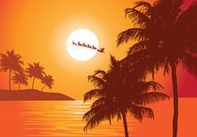 Santa's Ride. Santa Claus Ride...