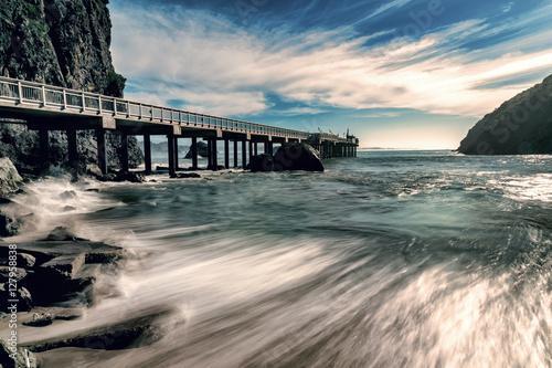 Fényképezés  Trinidad California Pier and Pacific Ocean