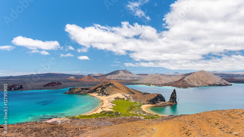 Amazing view in Bartolome Island in the Galapagos Islands, Ecuador