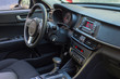 Modern car interior with smart phone