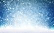 canvas print picture - Weihnachtshintergrund, Schnee unter blauem Himmel