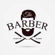 Barber shop symbol. Modern design. Vector