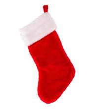 Christmas Stocking On White Background