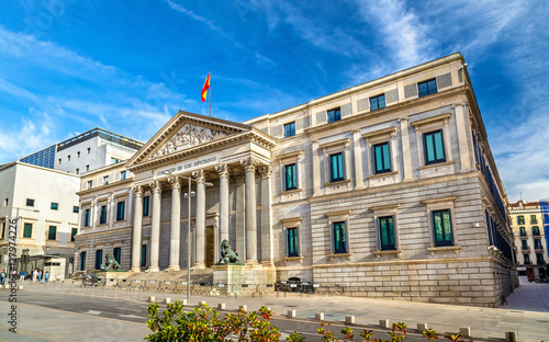Congress of Deputies in Madrid, Spain