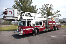 Parked Fire Truck With Tower L...