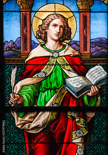 Fotografie, Tablou Saint John the Evangelist - Stained Glass