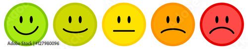 Fotografía Smiley icon set