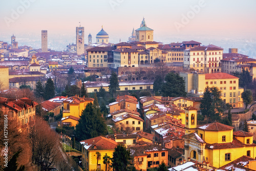 Photo  Old town of Bergamo, Lombardy, Italy