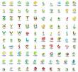 Mega set of letter logo icons