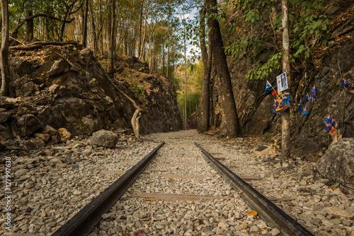 Valokuva  Death Railway, Old railway at Hellfire pass, Kanchanaburi