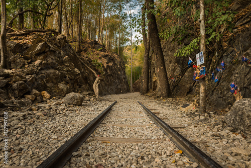 Photo  Death Railway, Old railway at Hellfire pass, Kanchanaburi