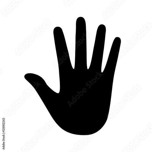 Fotografie, Obraz  Handprint / hand print or palm impression flat icon for apps and websites