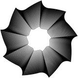 Okrągły element geometryczny - spirala obrotowa, kształt wirowy - 128005633