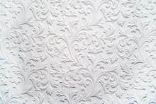 Plaster Background Floral Patt...
