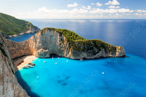 Shipwreck Beach isola di Zante Canvas Print