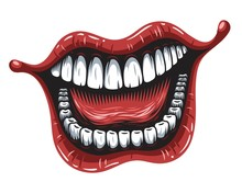 Illustration Of Smiling Mouth ...