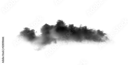 Garden Poster Smoke black cloud with a blanket of smoke on white