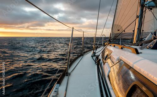 Fotografia  Coucher de soleil en voilier