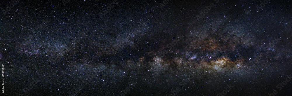 Fototapety, obrazy: panorama milky way galaxy on a night sky, long exposure photogra