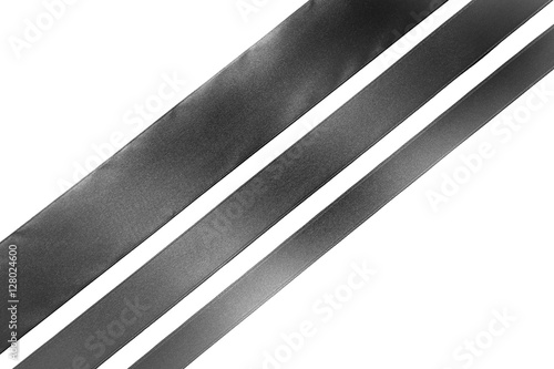 Fotografering  Diagonal ribbons on white background