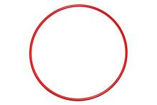 The Hula Hoop Red Isolated On White Background. Gymnastics, Fitness,diet .