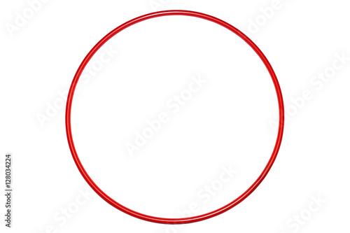 Foto auf AluDibond Gymnastik The hula Hoop red isolated on white background. Gymnastics, fitness,diet .