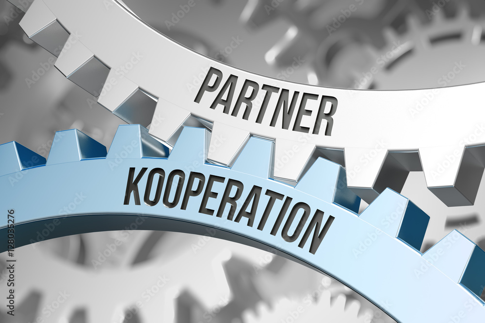Fototapeta Partner Kooperation