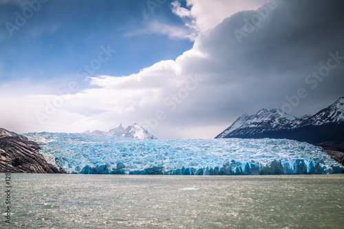 Poster Glaciers Grey Glacier, the National Park Torres del Paine, Chile.
