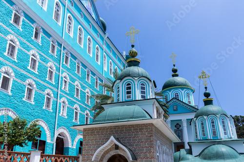 Fotografie, Obraz  Russian St. Pantaleon Orthodox monastery at Mount Athos