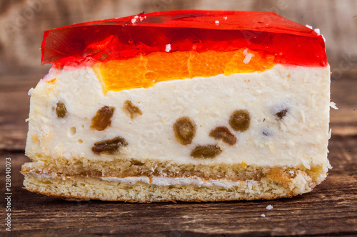 Photo cheesecake with orange